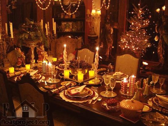 Christmas Dinner Table  Christmas table decoration