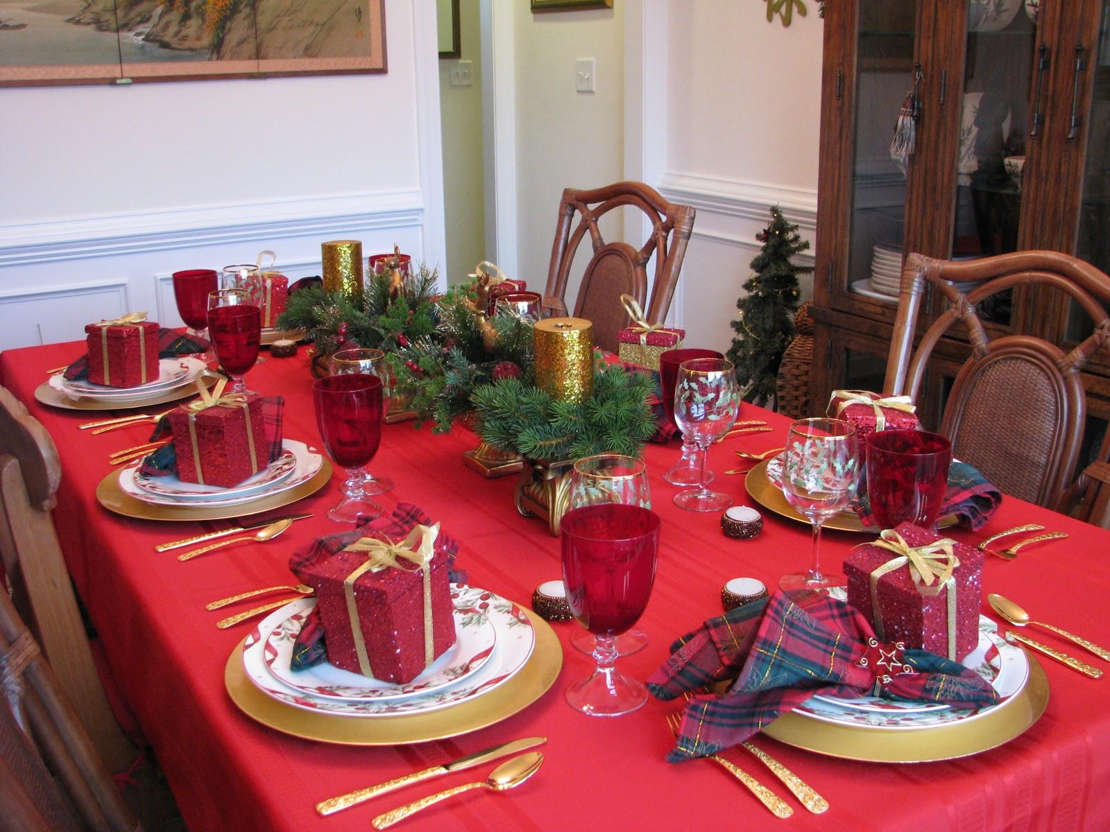Christmas Dinner Table  Designs by Pinky Christmas Eve Dinner Table