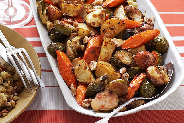 Christmas Dinner Vegetables  Roasted Winter Ve able Trio Kraft Recipes