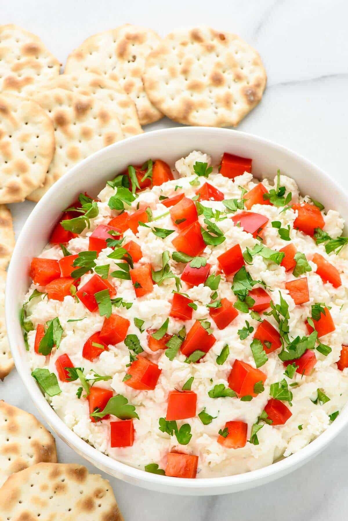 Christmas Dips And Appetizers  Easy Garlic Feta Dip