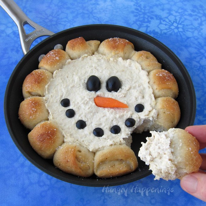 Christmas Dips And Appetizers  Skillet Dip Snowman Christmas Appetizer Hot Chicken Dip