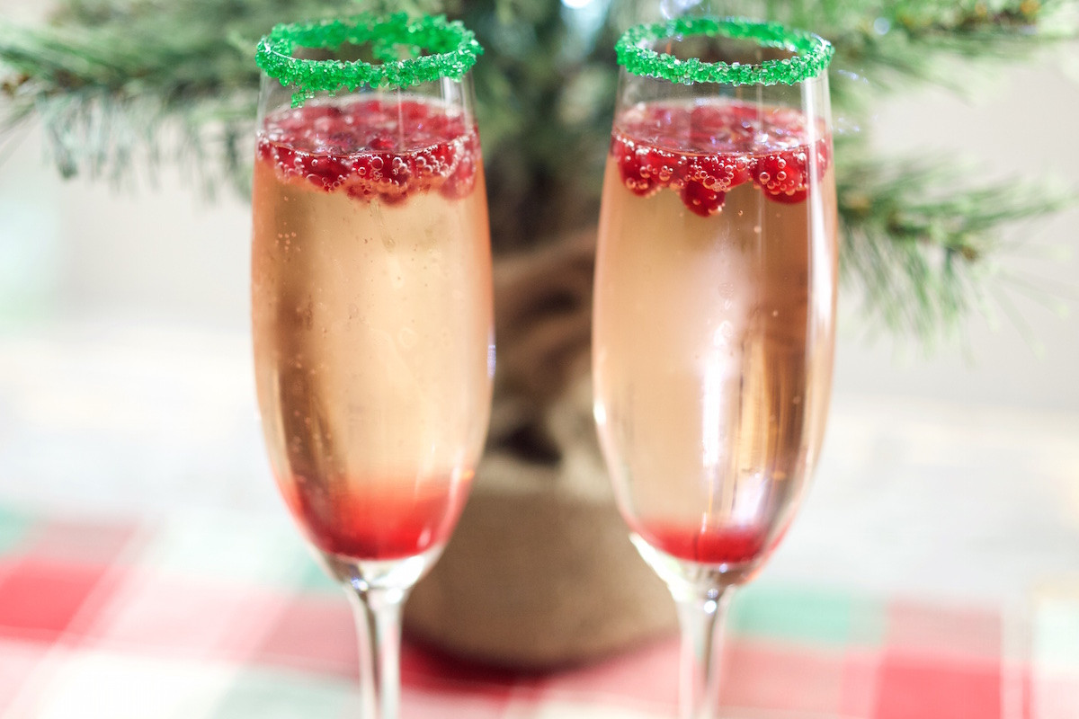 Christmas Drink Recipes  Christmas Champagne Cocktail Recipe Cooking With Janica
