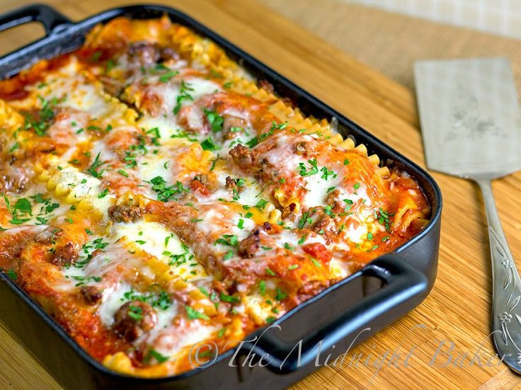 Christmas Eve Dinner Ideas Casual  Holiday Lasagna Recipe