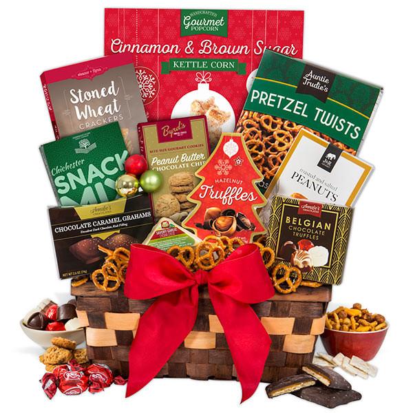 Christmas Food Gifts Baskets  Holiday Food Basket Select by GourmetGiftBaskets