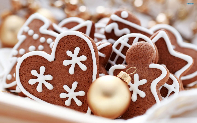 Christmas Ginger Cookies  21 Stunningly Beautiful Christmas Desktop Wallpapers