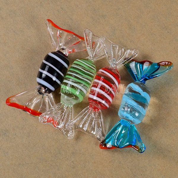 Christmas Glass Candy  12pcs Vintage Murano Glass Sweets Wedding Party Candy