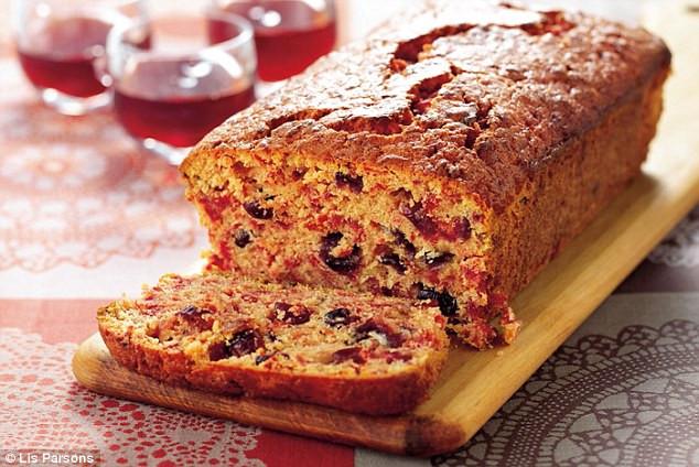 Christmas Loaf Cakes  All star Nigella Christmas Scarlet speckled loaf cake