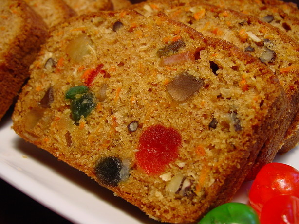 Christmas Loaf Cakes  Carrot Cake Fruited Carrot Loaf Christmas Muffins