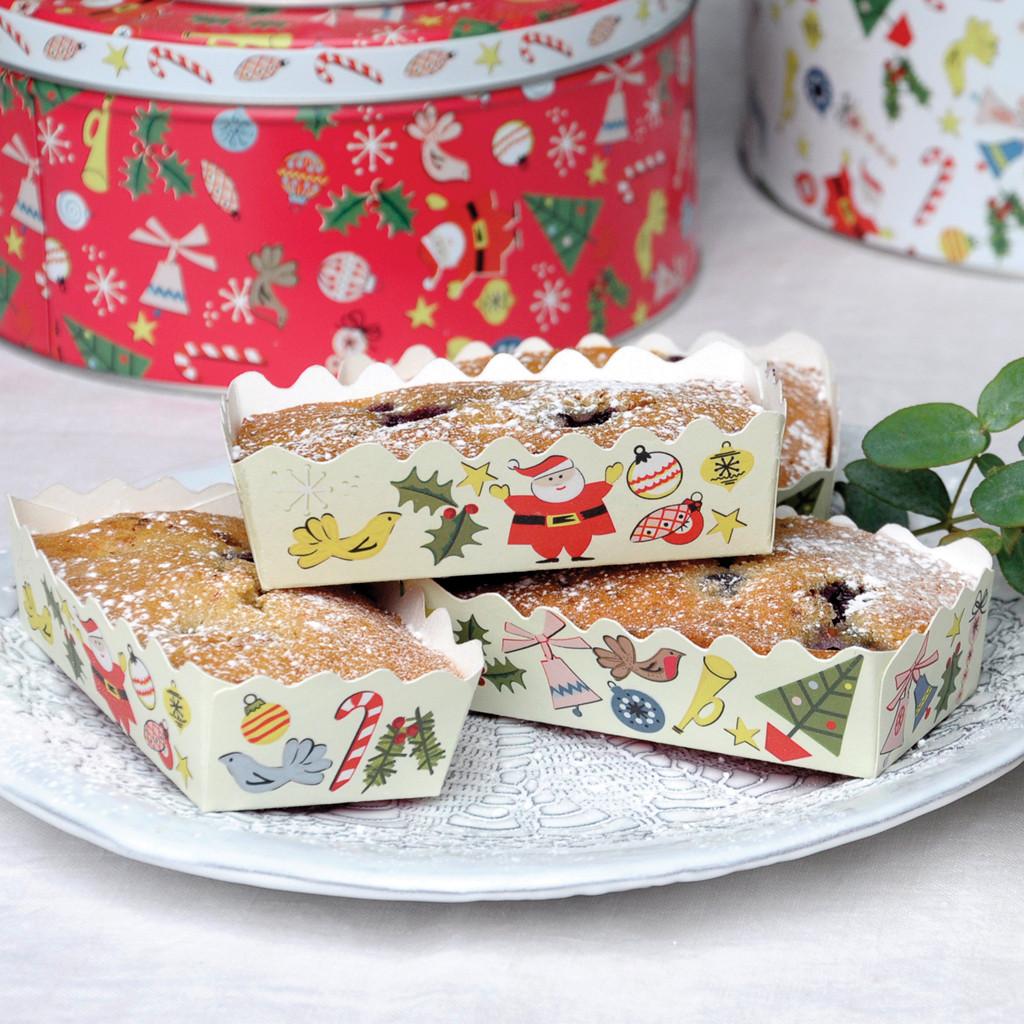 Christmas Loaf Cakes  dot tshop SET OF 12 CHRISTMAS MINI LOAF CAKE