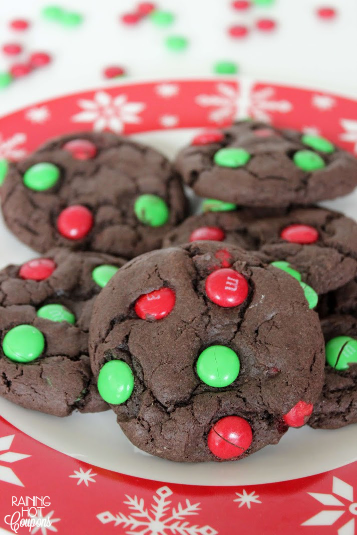 Christmas M And M Cookies  Christmas M&M Cake Mix Cookies