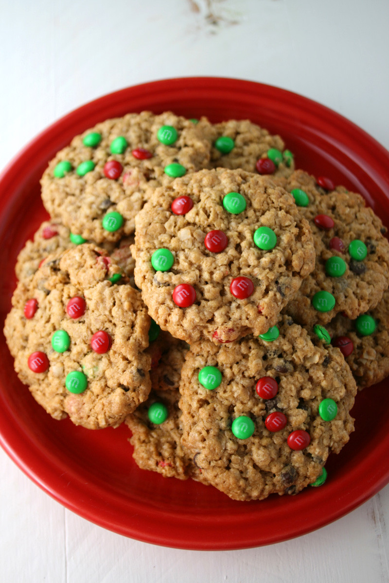 Christmas M And M Cookies  Christmas M&M s Monster Cookies Mom Loves Baking
