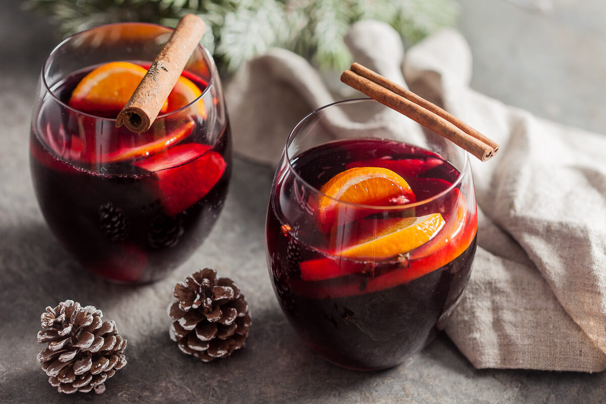 Christmas Mulled Wine  Heartwarming Mulled Red Wine Vibrant Plate