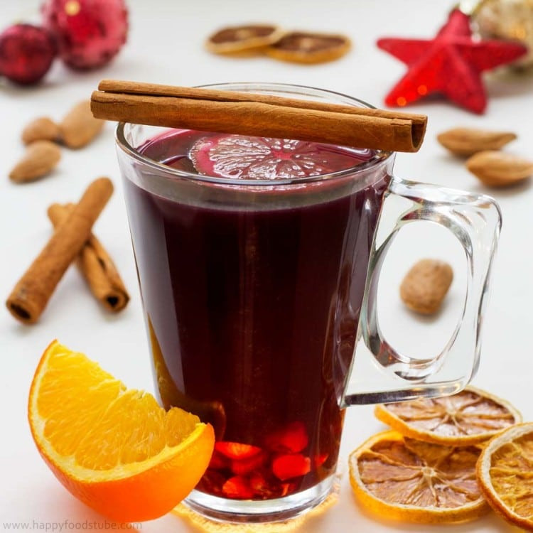 Christmas Mulled Wine  Homemade Mulled Wine Recipe Happy Foods Tube