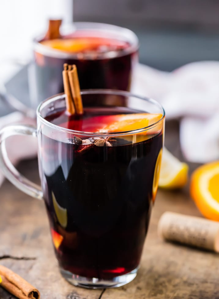 Christmas Mulled Wine  Holiday Spiced Wine Simple Mulled Wine Recipe The