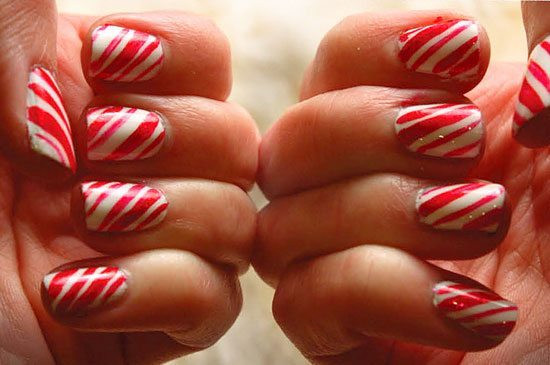Christmas Nails Candy Cane  19 Peppermint and candy cane crafts C R A F T