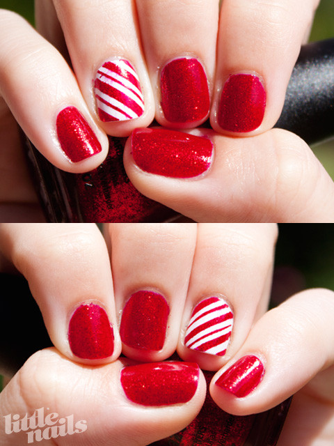 Christmas Nails Candy Cane  Christmas Candy Cane Nails