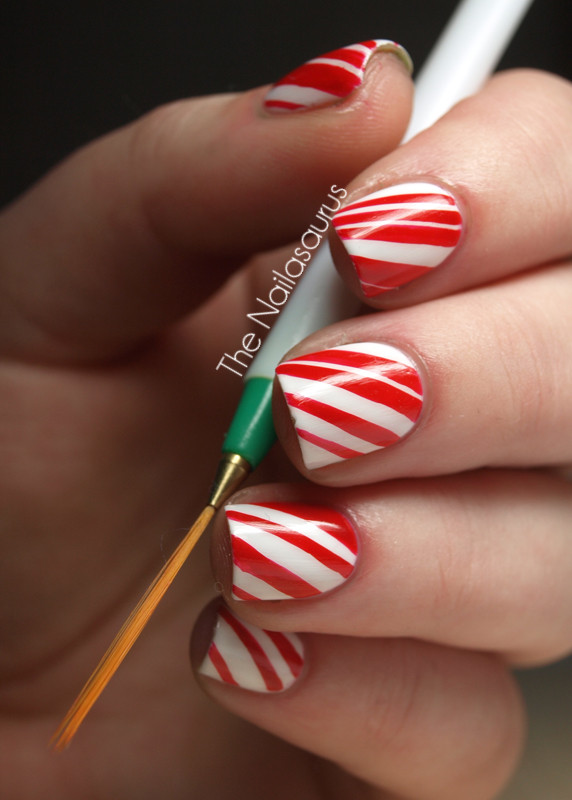 Christmas Nails Candy Cane  12 Days of Christmas Nails Day 7 Sweet Talkin Sugar