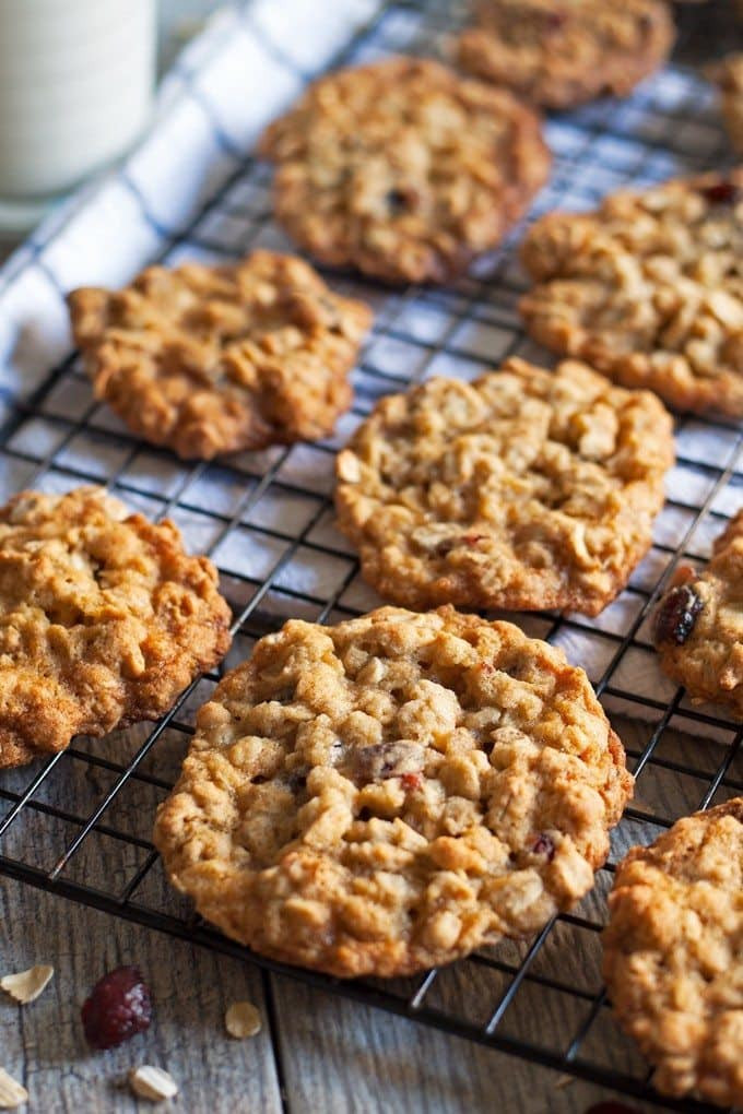 Christmas Oatmeal Cookies  Oatmeal Cranberry Cookies Honey and Birch
