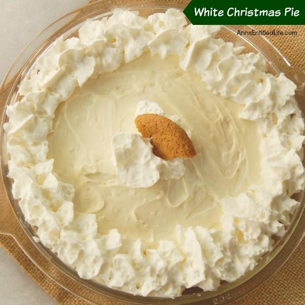 Christmas Pie Recipes  White Christmas Pie Recipe