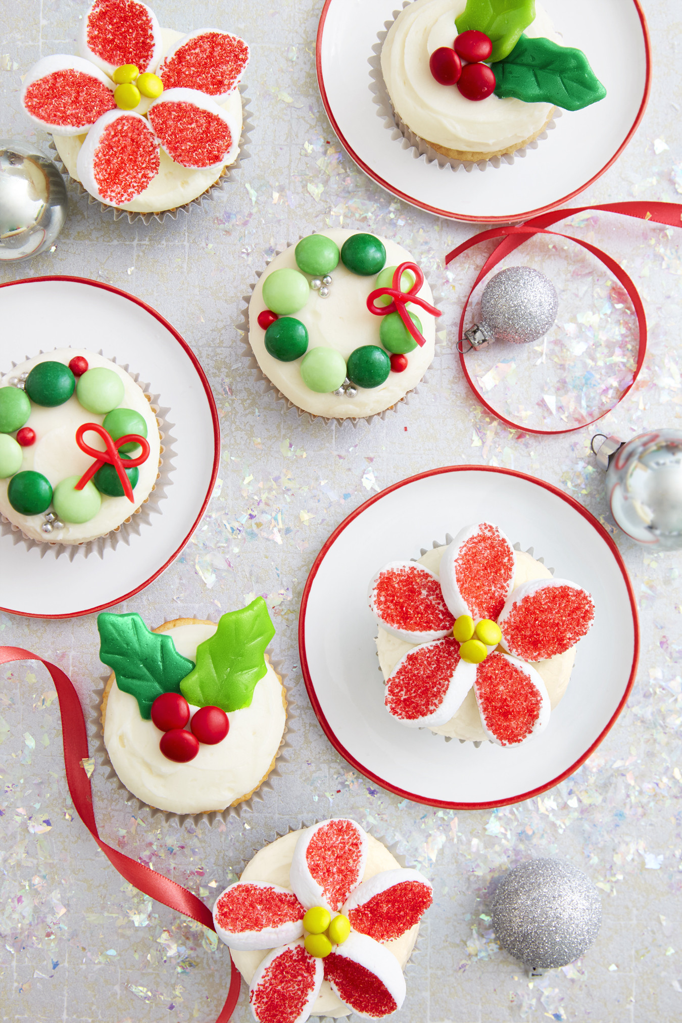 Christmas Pies And Cakes  Holiday Candy Cupcakes Recipe How To Make Christmas