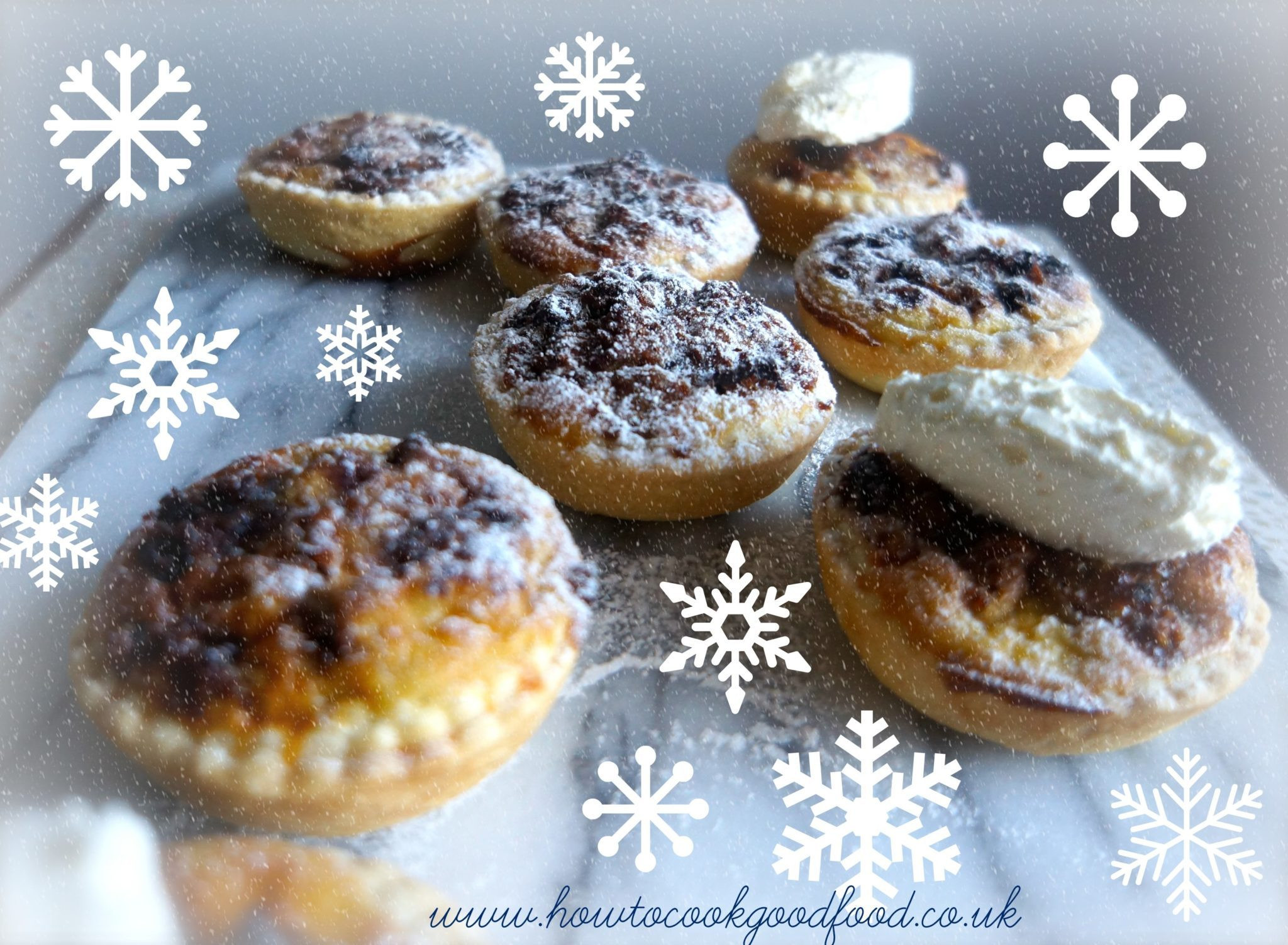 Christmas Pies And Cakes  Christmas Cake Tarts by How to cook good food