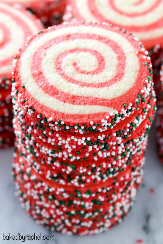 Christmas Pinwheel Cookies  Christmas Pinwheel Sugar Cookies