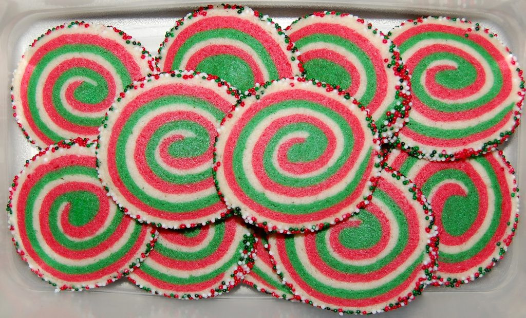 Christmas Pinwheel Cookies  Christmas Pinwheel Cookies