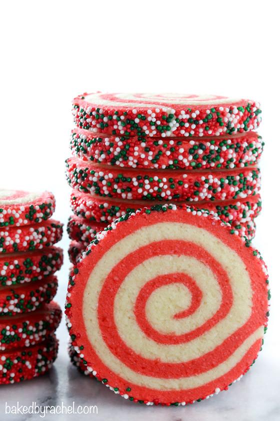 Christmas Pinwheel Cookies  Baked by Rachel Christmas Pinwheel Sugar Cookies
