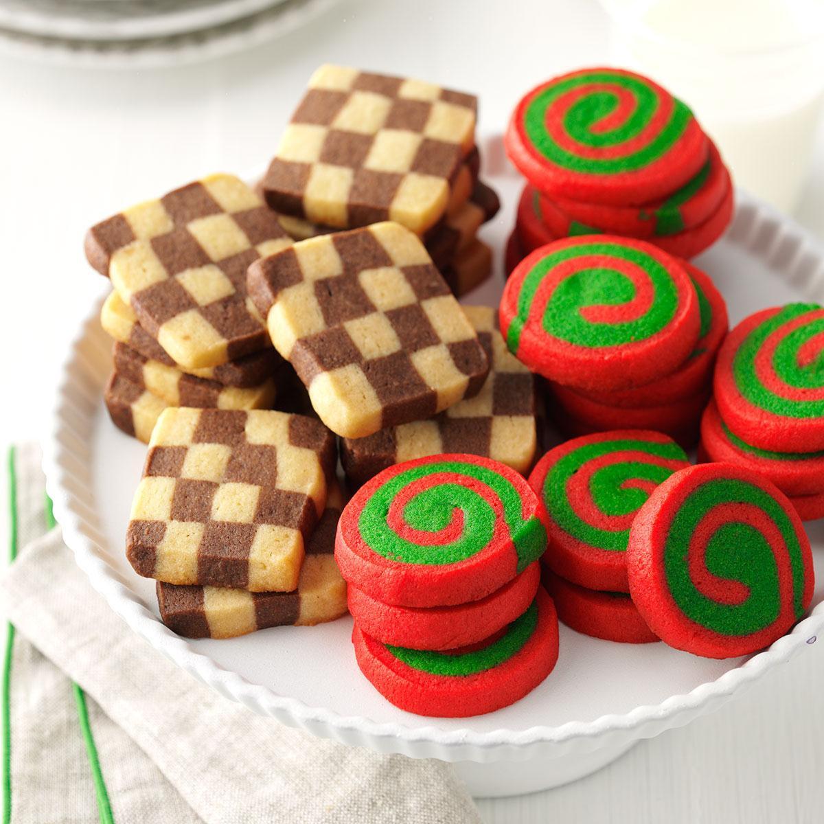 Christmas Pinwheel Cookies  Pinwheels and Checkerboards Recipe