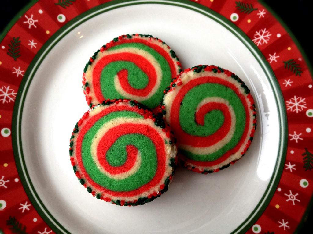 Christmas Pinwheel Sugar Cookies  Twelve Days of Christmas Cookies Pinwheel Cookies