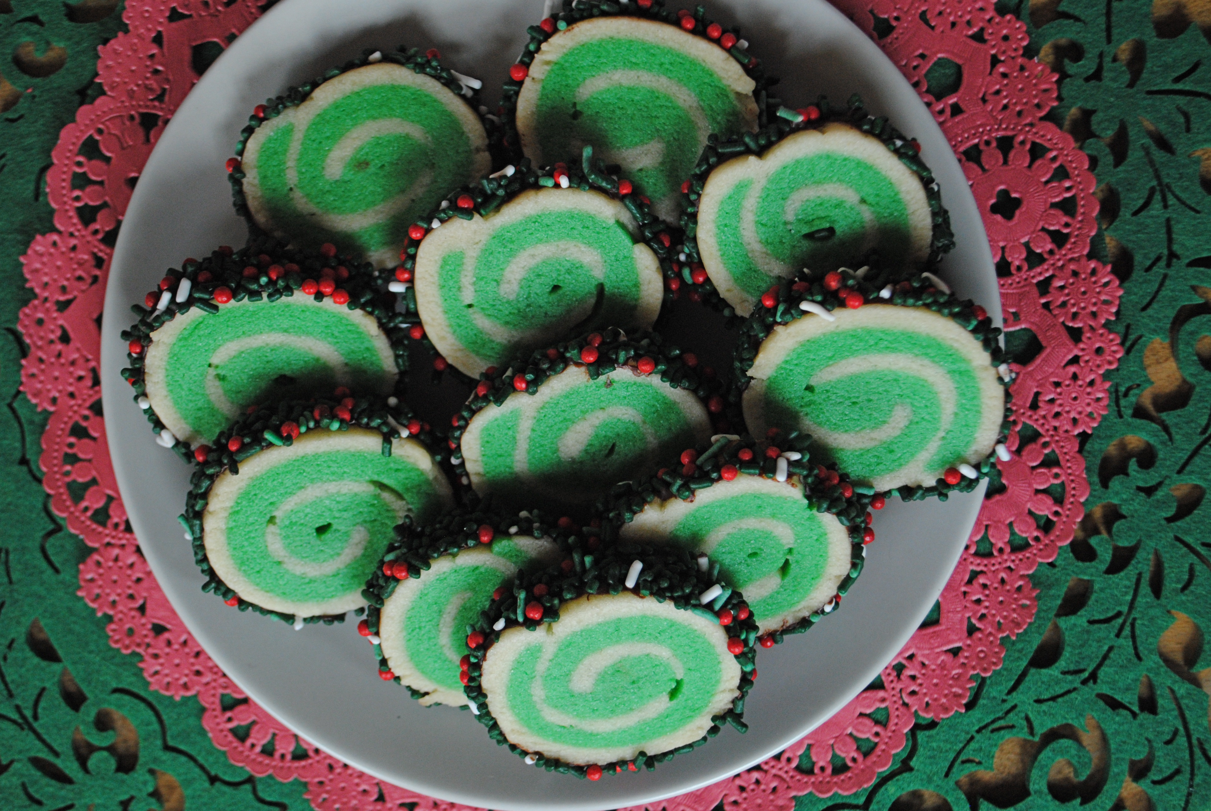 Christmas Pinwheel Sugar Cookies  12 Days of Christmas Cookies Day 1 Pinwheel Sugar Cookies