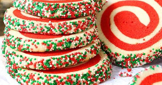 Christmas Pinwheel Sugar Cookies  Christmas Pinwheel Sugar Cookies With VIDEO