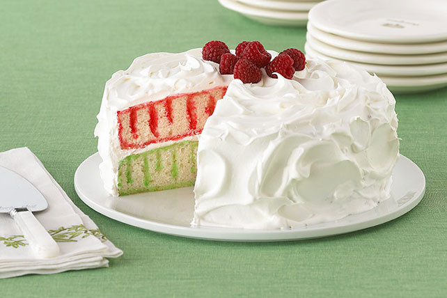 Christmas Poke Cake  Red and Green Holiday Poke Cake Kraft Recipes