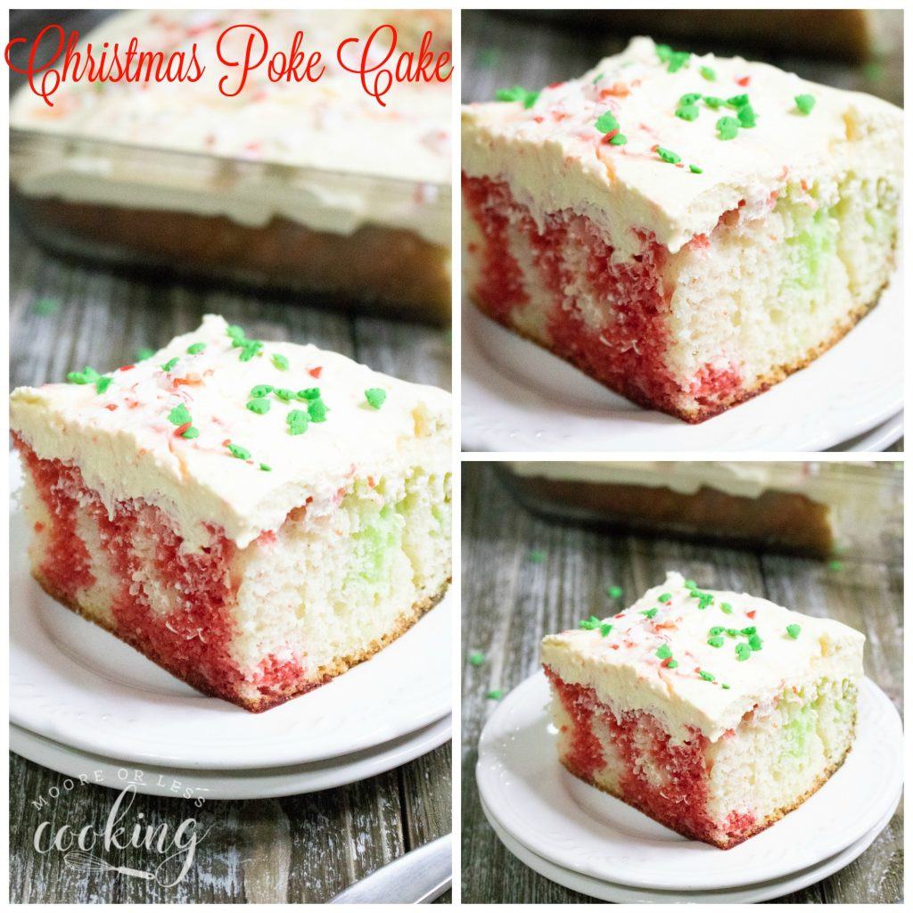 Christmas Poke Cake  Christmas Poke Cake