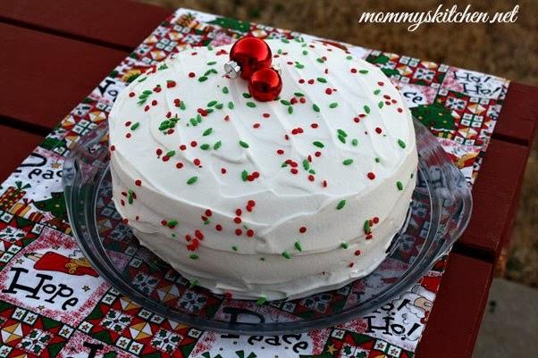Christmas Poke Cake  Mommy s Kitchen Recipes From my Texas Kitchen Vintage