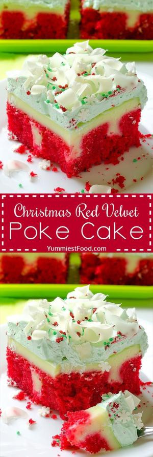 Christmas Poke Cake  Survivor Birthday Party Poke Cake Fun easy to make