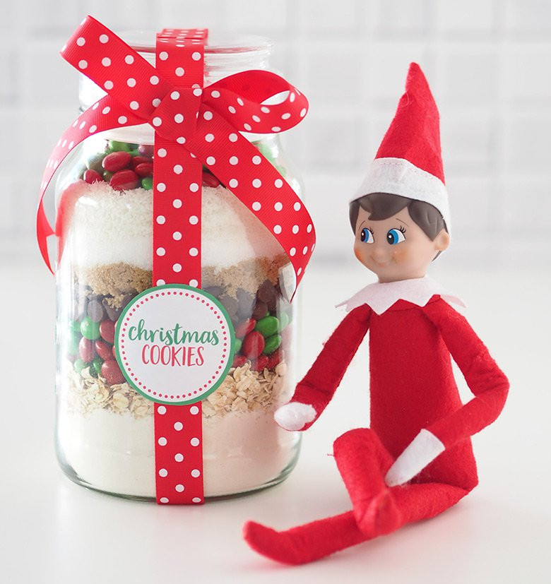 Christmas Present Cookies  Gift Idea Christmas Cookie Mix in a Jar The Organised