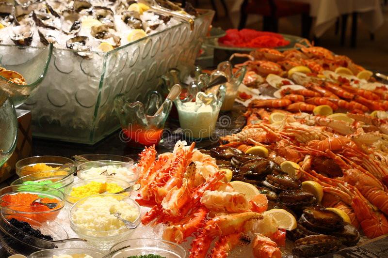 Christmas Seafood Dinners  Christmas seafood buffet stock image Image of shell legs