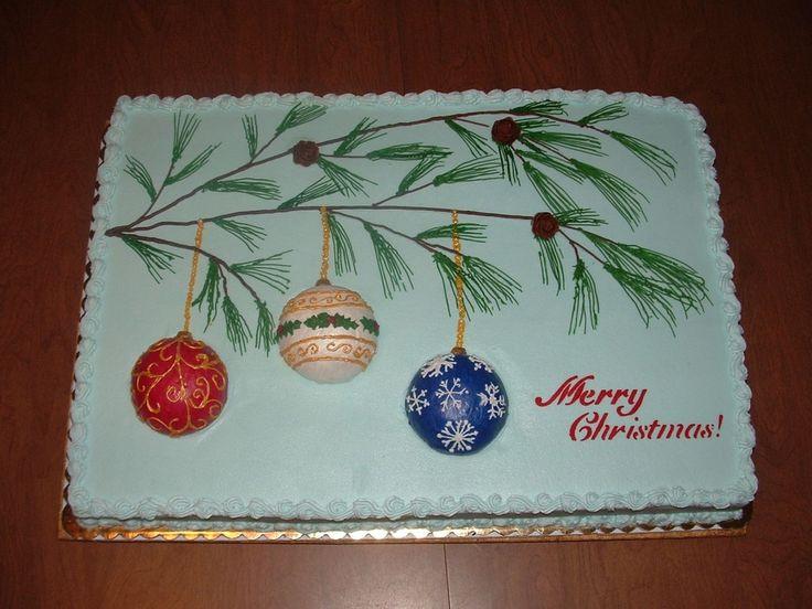 Christmas Sheet Cake Ideas  297 best Cakes sheet cakes images on Pinterest