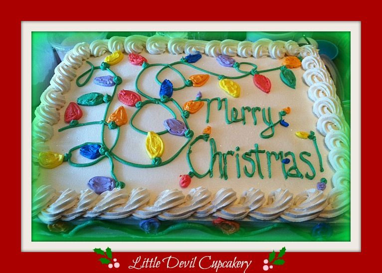 Christmas Sheet Cake Ideas  1 2 Sheet Christmas Cake