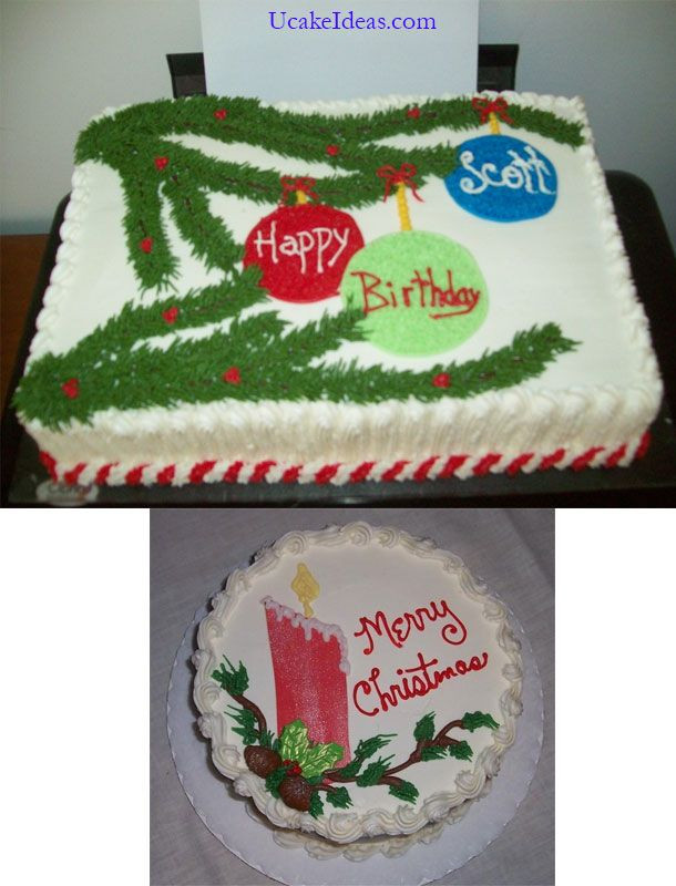Christmas Sheet Cake Ideas  Christmas Cake Decorating Ideas between the Appearance