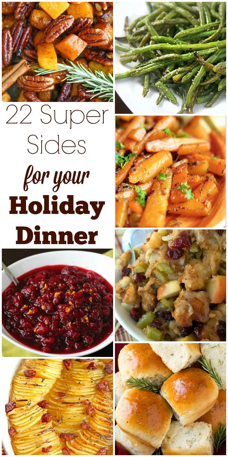 Christmas Side Dishes Pinterest  17 Best ideas about Christmas Dinner Menu on Pinterest