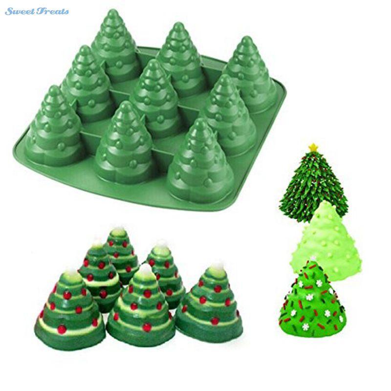 Christmas Silicone Baking Molds  Aliexpress Buy Sweettreats 3D Christmas Tree Fondant