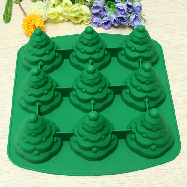 Christmas Silicone Baking Molds  3D Christmas Tree Cake Mould Silicone Cookie Chocolate