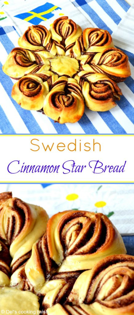Christmas Star Twisted Bread  Swedish Cinnamon Star Bread like a cinnamon bun — Del s