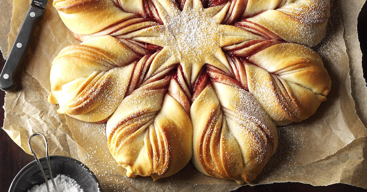 Christmas Star Twisted Bread  Christmas Star Twisted Bread Recipe