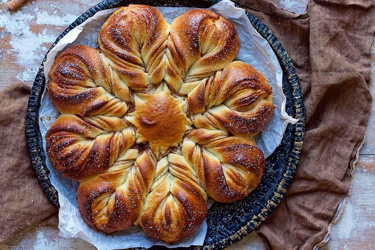 Christmas Star Twisted Bread  Cinnamon Star Bread Recipe