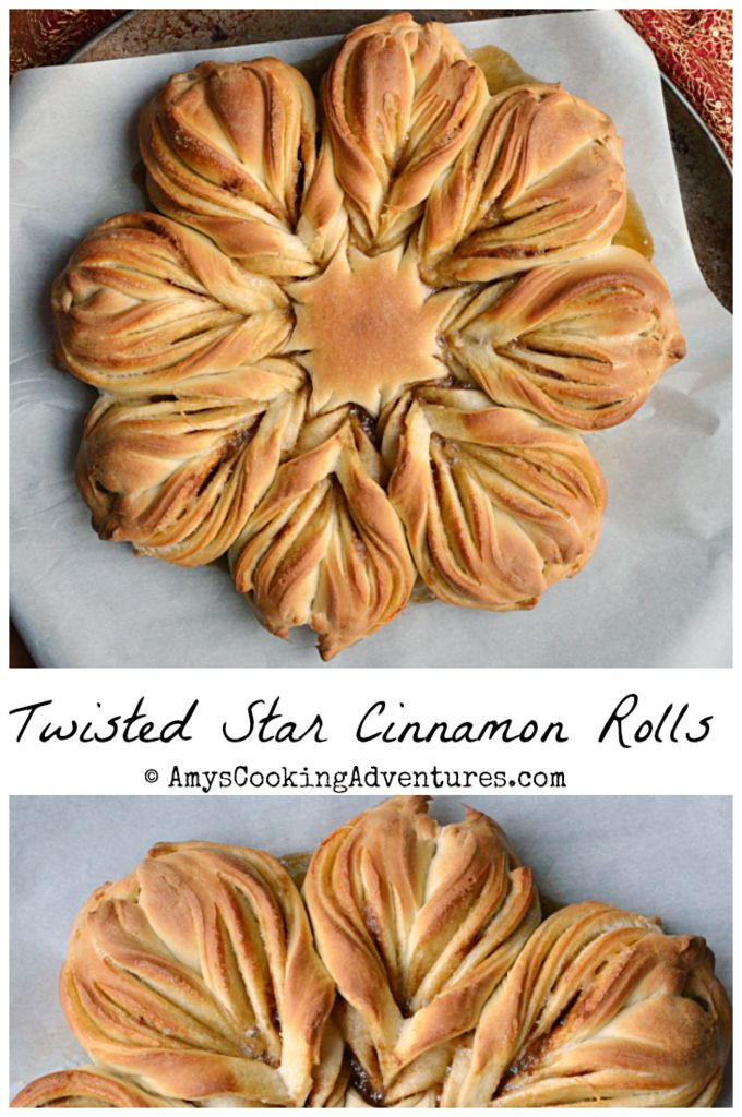 Christmas Star Twisted Bread  871 best images about Bread Bakers on Pinterest