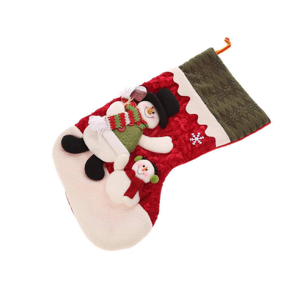 Christmas Stocking Candy  Festnight Xmas Santa Claus Snowman Christmas Stocking