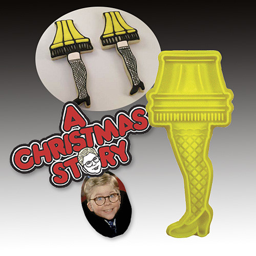 Christmas Story Cookies  A Christmas Story Leg Lamp Cookie Cutter